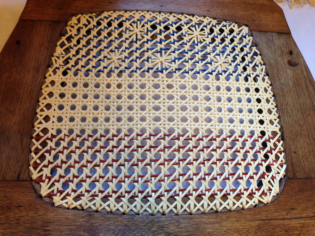 Some examples of wayne s unique weaving patterns he has created